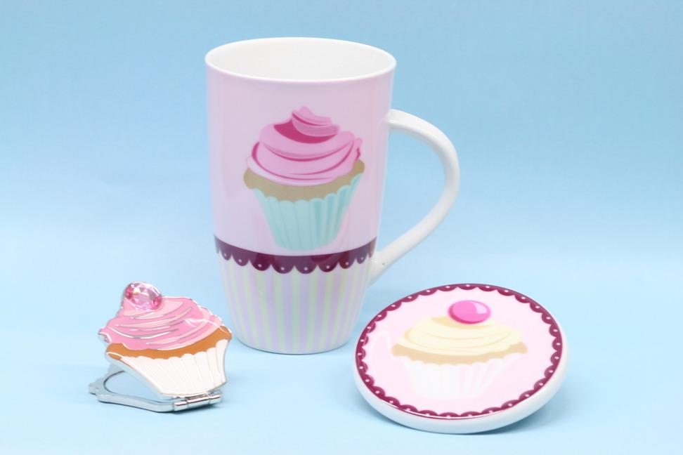 Cupcake mug and coaster