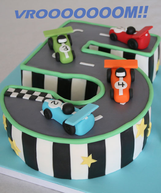 Car Cake Designs For Birthday Boy : Race track birthday cake   CakeJournal.com