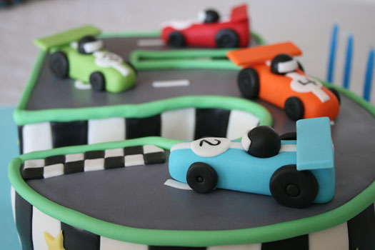 Race track birthday cake CakeJournalcom