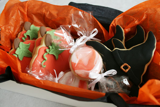 Assorted Halloween cookies