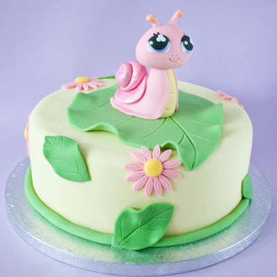 The Littlest Pet Shop snail birthday cake