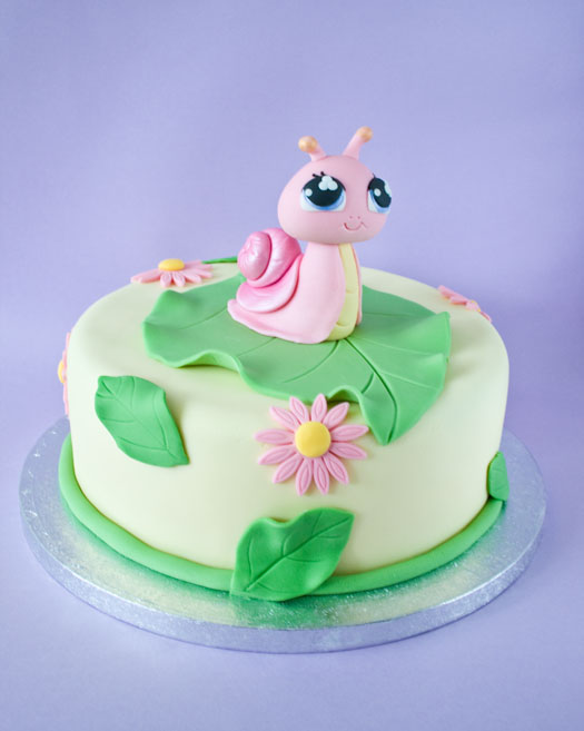 Phenomenal The Littlest Pet Shop Snail Birthday Cake Cakejournal Com Funny Birthday Cards Online Elaedamsfinfo