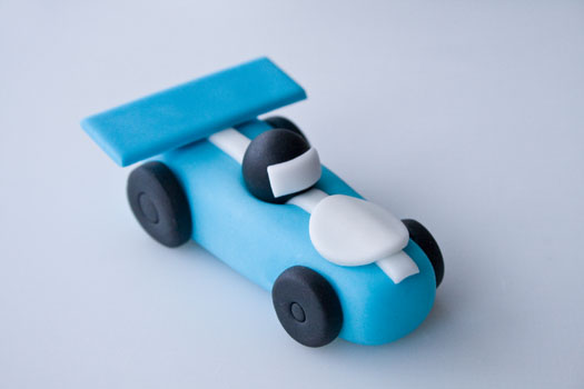 Fondant Race Car Cake Topper
