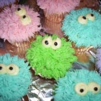 Furry cupcake monsters