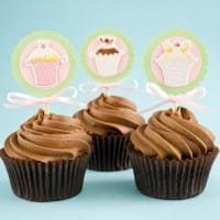 Cupcake paper toppers