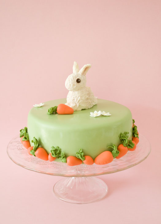 Bunny Cake Made Out Of Cupcakes