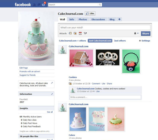 Share Cake Pictures On Facebook : CakeJournal on Facebook   CakeJournal.com