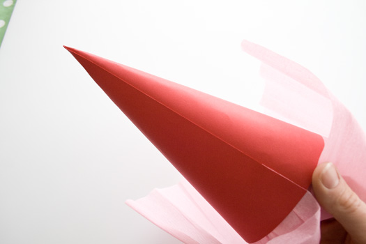How to make a paper cone picture 6a
