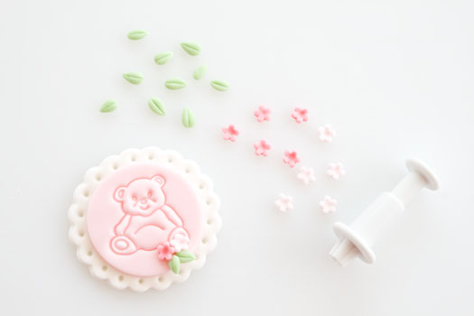teddy bear fondant cupcake toppers