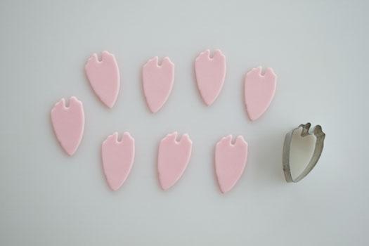 Gum paste peony petals