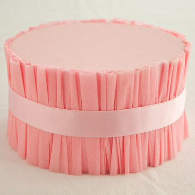 How to make a ruffled 1 tier cake stand