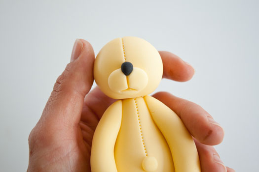 How to make a teddy bear cake topper part 2 • CakeJournal.com