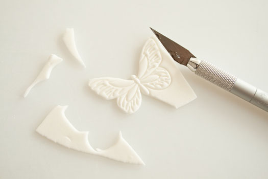 Gum paste butterflies