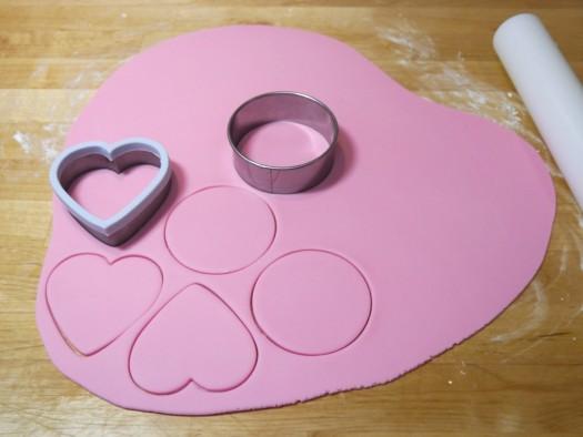 Ruffled rose heart step 2