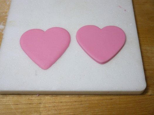 Ruffled rose heart step 3