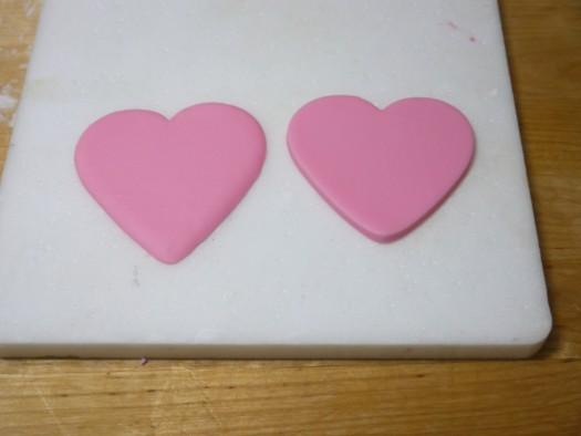 Ruffled rose heart step 3