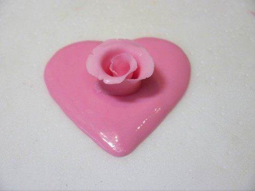 Ruffled rose heart step 6