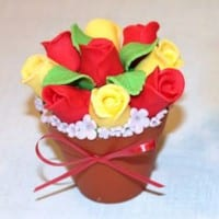 How to make a flower pot cupcake