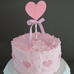 Pink cake for Valentine's Day