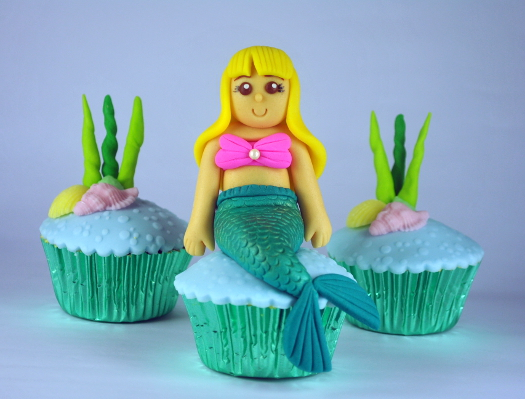 Mermaid Cupcake Topper
