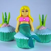How to Make a Fondant Mermaid Cupcake Topper