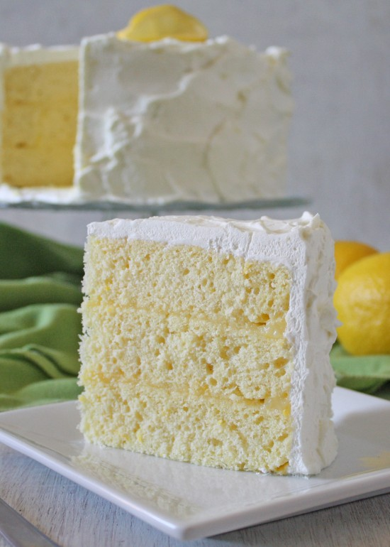 Slice of Lemon Chiffon Cake 2