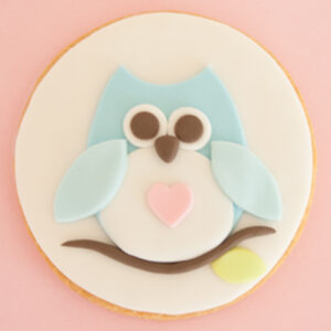 How to make a sugar cookie with owl motif