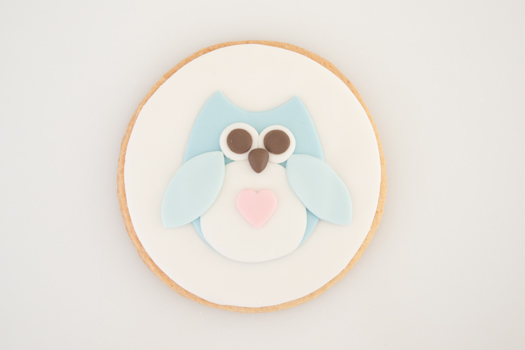 Owl cookie step 8a