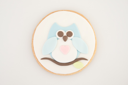 Owl cookie step 8b