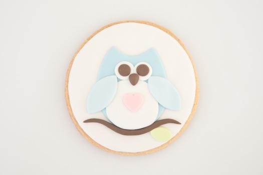 Owl cookie step 8b