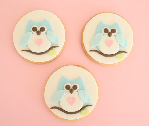 Owl cookie top photo