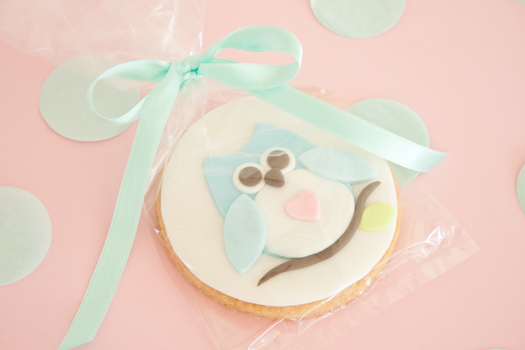 Owl cookie wrapping