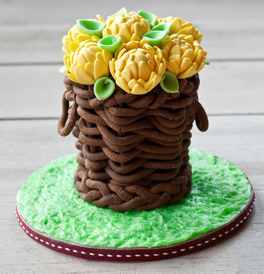 how to make modeling chocolate basket 20