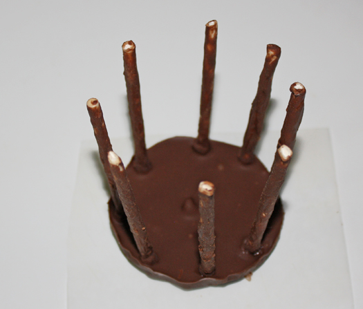 how to make modeling chocolate basket 6