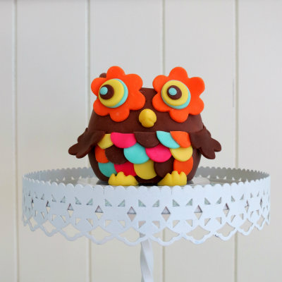 How to make a flower owl cake topper