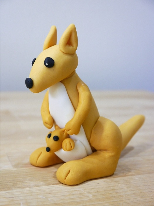 How To Make A Gum Paste Kangaroo Cakejournal Com