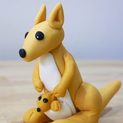 How to make a gum paste kangaroo
