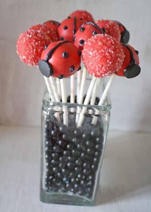 Red Ladybug Cake Pops