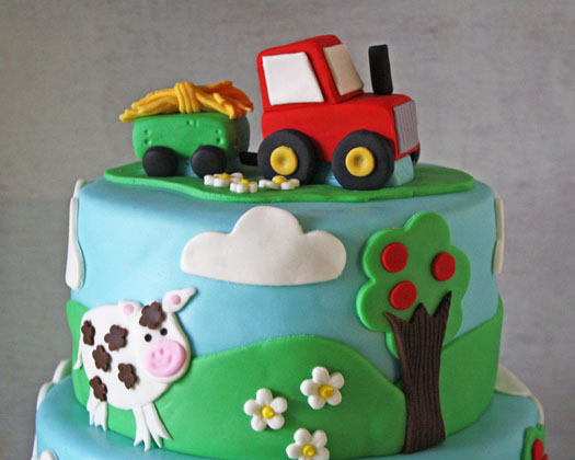 Tractor Cake Topper Top Tier