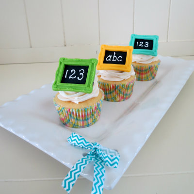 How to make a chalkboard cupcake topper