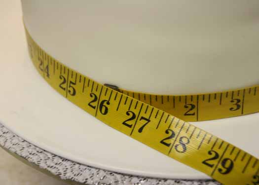 Tape measure around a cake