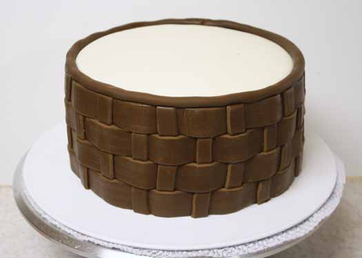 basket weave cake how to make fondant basketweave cakejournal 1510