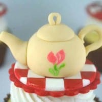 How to make a teapot cupcake topper