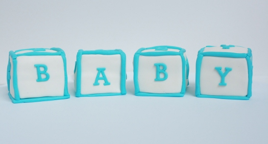 How to make baby block cake toppers