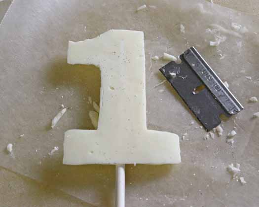 How to Make Number Toppers from Almond Bark 13