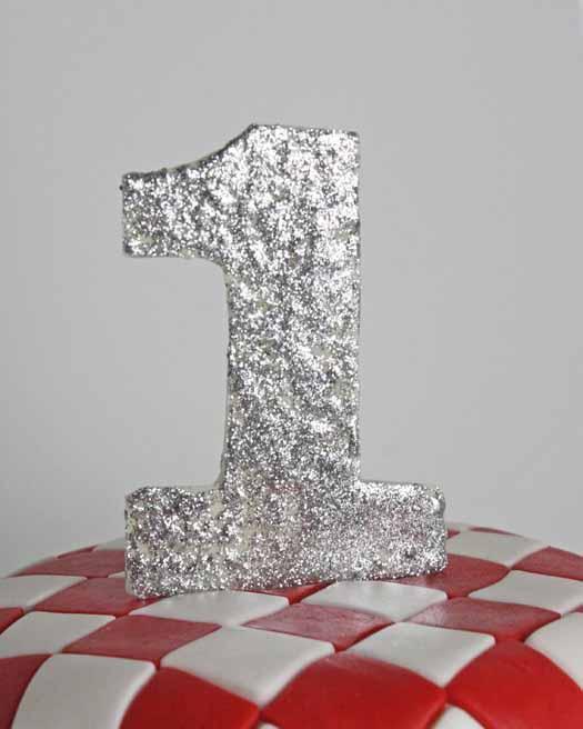 number 1 cake topper
