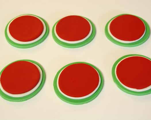 How to Make Watermelon Cupcake Toppers 09
