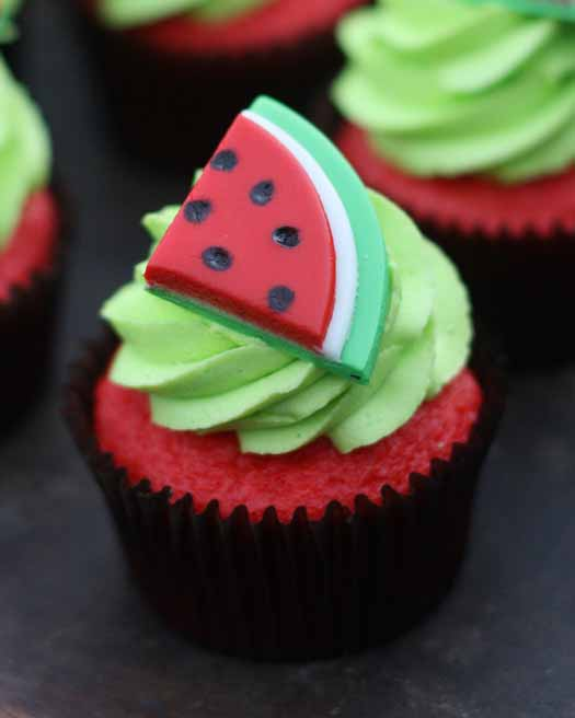 Watermelon Cupcake topper