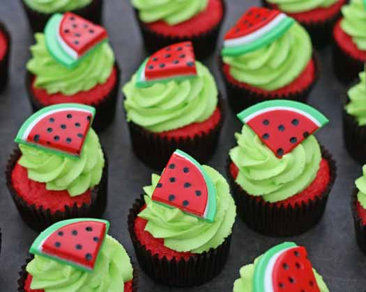 Watermelon Cupcakes for CJ