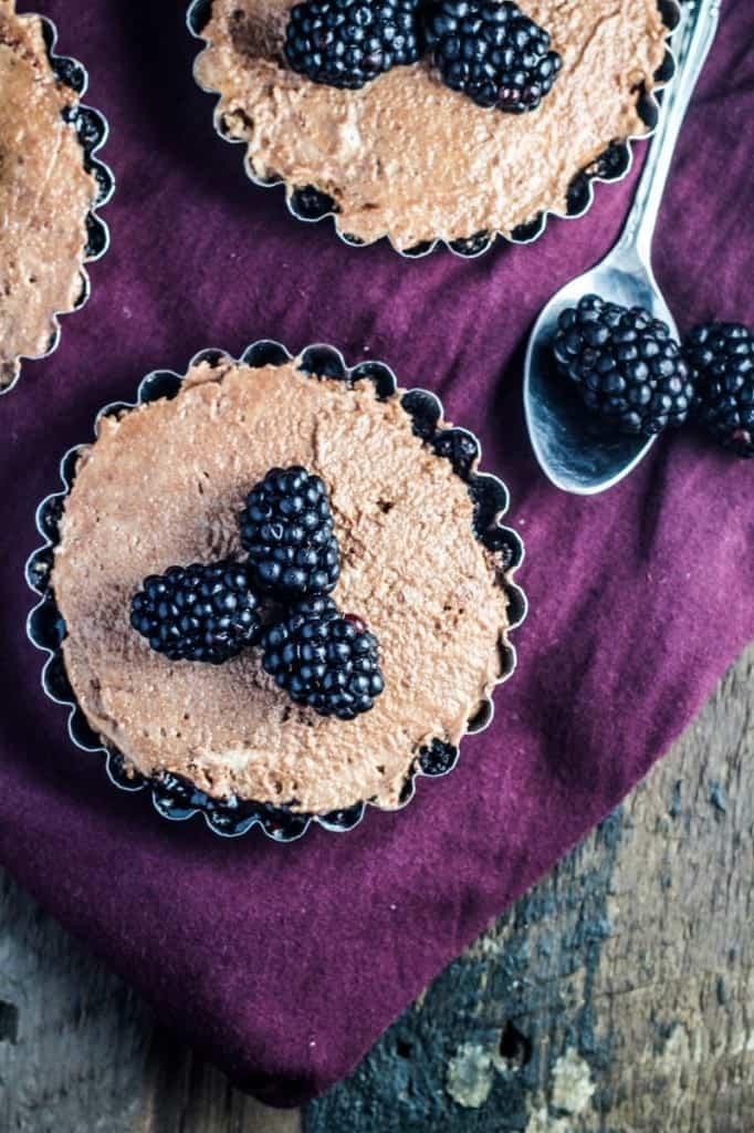 Chocolate Blackberry Tartlets